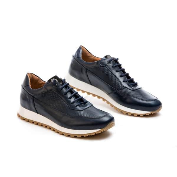 Ανδρικό Sneaker δερμάτινο μπλε Raymont