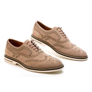 Ανδρικό Oxford μπεζ δερμάτινο παπούτσι Beneto