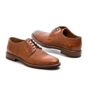 Ανδρικό παπούτσι κουστούμι δερμάτινο ταμπά Raymont