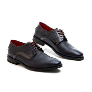 Ανδρικό παπούτσι κουστούμι δερμάτινο blue black Raymont