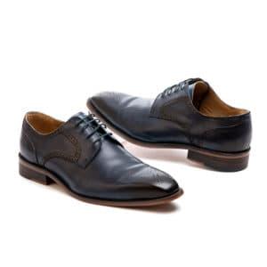 Ανδρικό παπούτσι κουστουμιού δερμάτινο blue Beneto Maretti