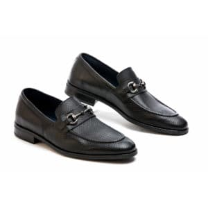 Ανδρικό παπούτσι κουστούμι δερμάτινο μαύρο μοκασίνι Raymont αγγράφα