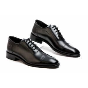 Ανδρικό παπούτσι κουστούμι δερμάτινο μαύρο Fenomilano