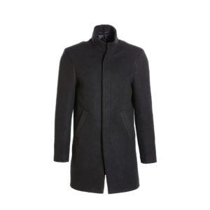 Ανδρικό παλτό Vittorio -Χρώμα μαύρο με γιακά μαο