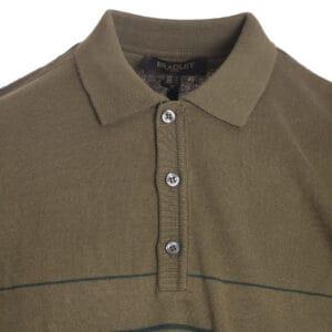 Ανδρικό πόλο πλεκτό μπλουζάκι χακί