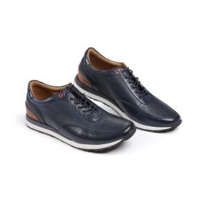 Ανδρικό παπούτσι δερμάτινο μπλε