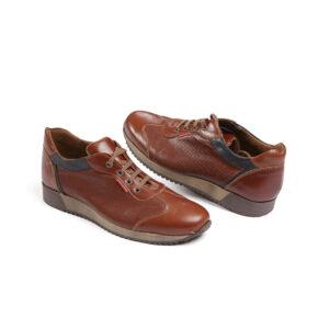 Ανδρικό παπούτσι δερμάτινο ταμπά