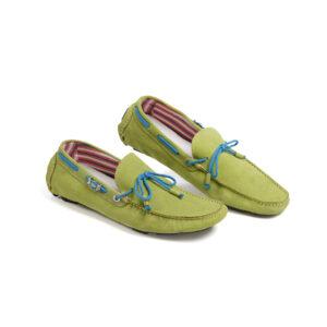 Ανδρικό παπούτσι δερμάτινο πράσινο