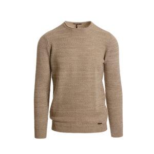 Ανδρική πλεκτή μπλούζα μπεζ SS21