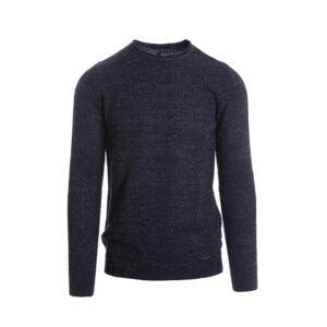 Ανδρική πλεκτή μπλούζα  μπλε SS21