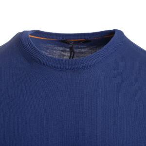 Ανδρική πλεκτή μπλούζα μπλε royal
